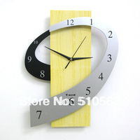 gz007 HOT 1pcs Cartoon creative fashion personality sitting room the bedroom art mute wall clock