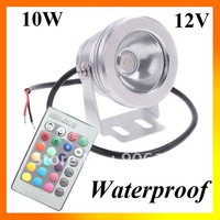 Wholesale Waterproof 12V 10W RGB Flat Lens LED Flood light