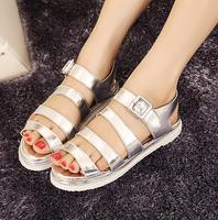 Free Shipping,Cutout Straps Peep Toe #568 Flat Heel Sandals,US 4-8.5,Womens/Ladies Shoes