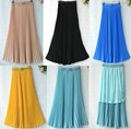 2012fashion chiffon maxi lady skirt cheap fashion long skirt womens/for women G010