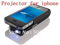 12~20 Lumens Pocket DLP Projector & battery For iPhone 4 4S,640*360 Pixels,60 inches projected image,contrast ration of 1000:1
