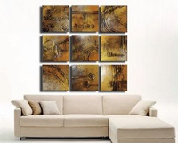 Framed!! Frame oil painting !9panels /set  Huge  Framed/Stretched OIl  Painting  JYJD018