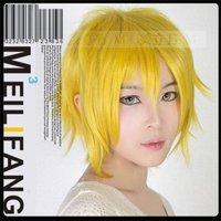 Uta no Prince-sama  short  gold  yellow Full Party Customs Cosplay wig MLCF153