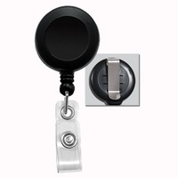 wholesale retail ID holder name tag card key Badge Reels Round Solid Plastic Clip-On Retractable pull Reel