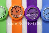 200pcs/lot children slap watches kids watch color 12 numerals face with logo quartz watches