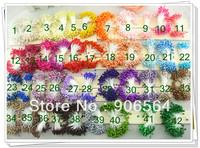 42 colors mixed socking flower glass flower stamen pistil cake decoration ,DIY flower,1350pcs/lot free shipping