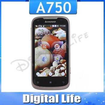 A750, Original Lenovo A750,3G,WCDMA+GSM Dual Sim,Quad band,Android 2.3,Wifi,GPS with 4.0'' HVGA  Free Shipping