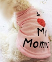 Free Shipping Pet Cotton Tshirt Pet Summer Clothing Dog Clothes Pet Products 10pcs/lot (PC020)