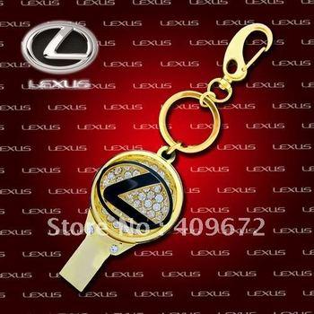 retail genuine 2G/4G/8G/16G/32G car brand jewelry metal diamond waterproof necklace usb flash drive Free shipping+Drop shipping