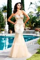 2012 Prom Dresses Custom Made ! Exquisite Sweetheart Mermaid Floor Length Beads Rhinestone Organza MM11302
