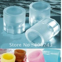 100pcs/lot  eco-friendly silicon 4 Bucket  Ice Shooter glass ice Cube tray  Ice cup maker