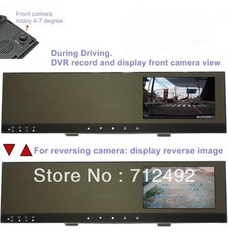 "Car DVR - 4.3""TFT mirror and back-up camera + recording camera rotary"