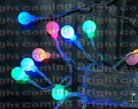 3pcs Dry Battery 4M 40 LED String acrylic Ball shaped decoration light multicolor for holiday party with flash/static mode