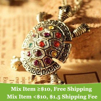 summer dress 2014 pendant chain necklace Lovely Tortoise necklaces & pendants Jewelry Wholesale --cRYSTAL sHOP M13