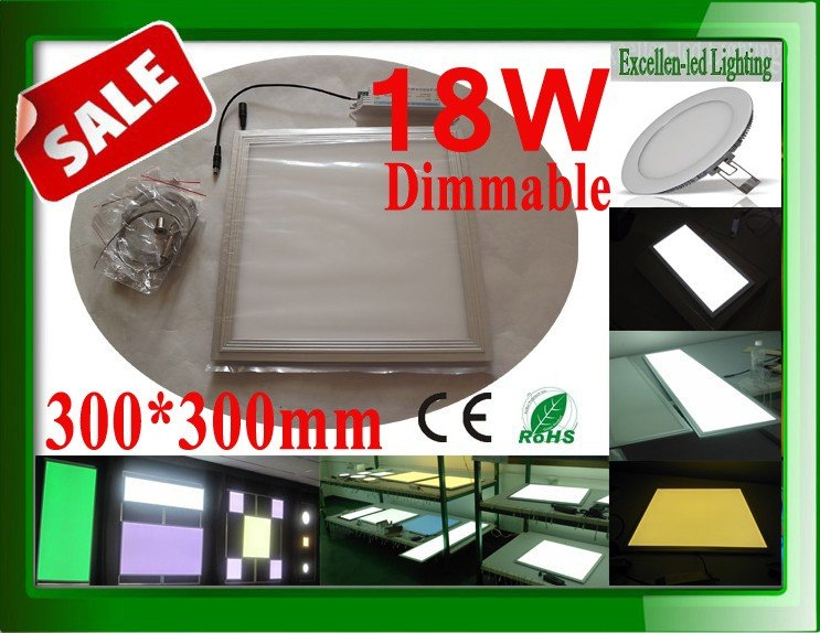Best Selling Dimmable Square 300*300mm 18W led ceiling panel white lamp +light modulator CE&ROHS FCC(China (Mainland))
