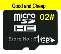 1GB-02#  Grade Cheap quality Micro sd card / TF card +Free Adapter 2pcs/ Free Shipping/ Plant Wholesale