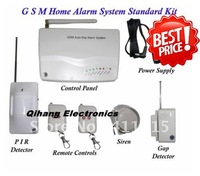 Free shipping + 99 Wireless zones and 5 wired zones GSM home alarm system Model:IP-602