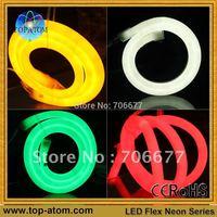 free shipping 12v led neon flex rope light/360 degree shine/100 leds per meter/all color option/round shape dia 25mm