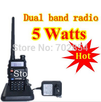 Free shipping BAOFENG UV-5R handheld transceiver Dual Band Dual Freq Dual Display Radio walkie talkie