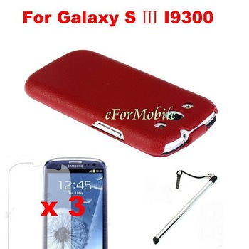 Flip Mobile Phone Leather Caes   For Samsung Galaxy S3 I9300 Free Shipping