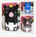 3D Pig pattern cute cartoon case For iPhone 4 4G 4S,cute pig silicon case for iphone 4 4s with pp bag , Free shipping