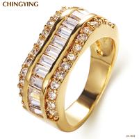JA-1824,Gemstone Jewelry Sapphire Jewelry Joyeria Joias anel Bijoux rings for women semi joias gold-plated