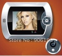 "2.8"" LCD,take picture+0.3MP camera,32GB Micro-SD Digital Video/Audio Peephole Door Viewer +free shipping +high quality"
