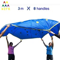 DIA3M PLAY PARACHUTE MOON & STAR DESIGN FOR CHILDREN GAMES, RACING GAME, EDUCATIONAL TOY AND BABY TOY