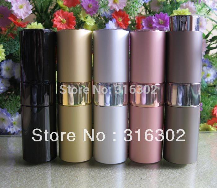Free shipping New Design Twist 15ml refillable Atomizer, Metal Spray Bottle, Parfume Bottle, Scent Atomizer, Perfume Bottle(China (Mainland))
