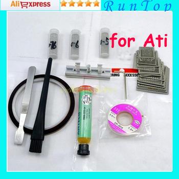 Freeshipping for Laptop ATI Chip Reballing Kit 41 pcs Stencil + 9 Free Gifts