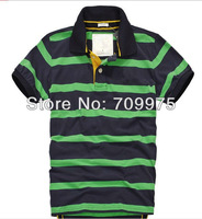 2014 New Brand Famous hot selling wholesale price strip polo men shirts  t-shrit famouse  free shipping