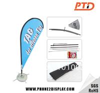 3m outdoor teardrop flying banner, flying beach banner, flying banner flag