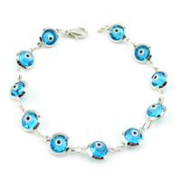Turkish  glass blue evil eye bracelet dark blue color lucky eye 8mm bead 10pcs/bag