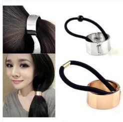 Lowest Price Wholesale Hair Cuff Wrap Gold Silver Color Hinged Pony Tail Band Ring 10pcs/lot Free Shipping[HP23*10]