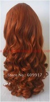 Hot sale long curl synthetic hair front lace wig wholesale top quality lace wig free shipping
