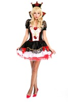 really product shoot!elegant women queen of heart costumes,sexy cosplay,women halloween costumes MDL2819