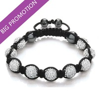Lose Money Factory Wholesale Shamballa Jewelry 10mm Handmade Crystal Shamballa Bracelets Micro Pave CZ Disco Ball Bead Bracelet