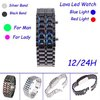 Iron Samurai Digital Women Lava LED Watch Black / Silver Wristband with Blue / Red Led light for Lady,Wholesale,Dropshipping