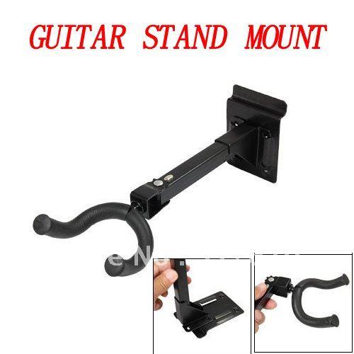 Black Guitar Wall Hanger Metal Stand Mount Bracket(China (Mainland))