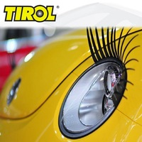 TIROL T15891b Headlight Eyelashes 1 pair 3D Auto Black Pre-curled Lamp Decals Stickers Fashion Brand New Car Badges