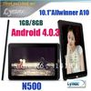 Hot  allwinner A10 android 4.0 tablet pc 10 inch capacitive1GB/8GB 1024x600 N500