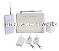 Superior Quality Wireless Telephone PSTN Home GSM Alarm System With 8 Wireless Zones, 4 Wired zones, Free Shipping