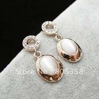 Free shipping++18K Rose Gold plated jewelry earrings/Opal Jewelry/Drop Earring/rhinestone jewelry