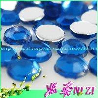 20000pcs  Free shipping 2.5mm middle blue  imitation Taiwan Acrylic flatback rhinestone