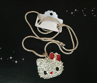 2012 Fashion Hello Kitty Pendant necklaces, pearl necklace deserve accessories South Koera Fashion Style Exquisite diamond