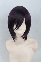 Yato Purple Black Short Straight Cosplay Anime Wig.Heat Resistance Synthetic Hair