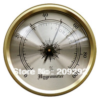 "1.7"" Brass Frame Hygrometer for Cigar Humidors Humidor Hygrometer 10pcs/lot"