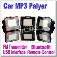 Car MP3,car Bluetooth Wireless FM transmitter,Bluetooth Car MP3 Player with remote control USB interface,Free Shipping