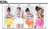 Free shipping hot sale 5pcs/lot kids wear children clothing girls beautiful cotton princess veil dresses