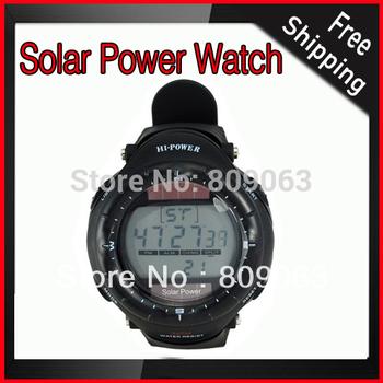 Multi-Function Hi-POWER Solar Power 3ATM Waterproof Sports Watch Free Shipping